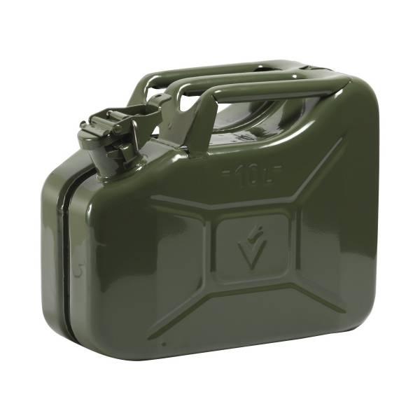 benzinkanister stahlblech metall 10l gs un gepr ft oliv. Black Bedroom Furniture Sets. Home Design Ideas