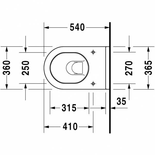 duravit wand wc set starck 3 inkl wc sitz mit. Black Bedroom Furniture Sets. Home Design Ideas